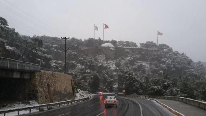 Schnee in Kepez/Antalya